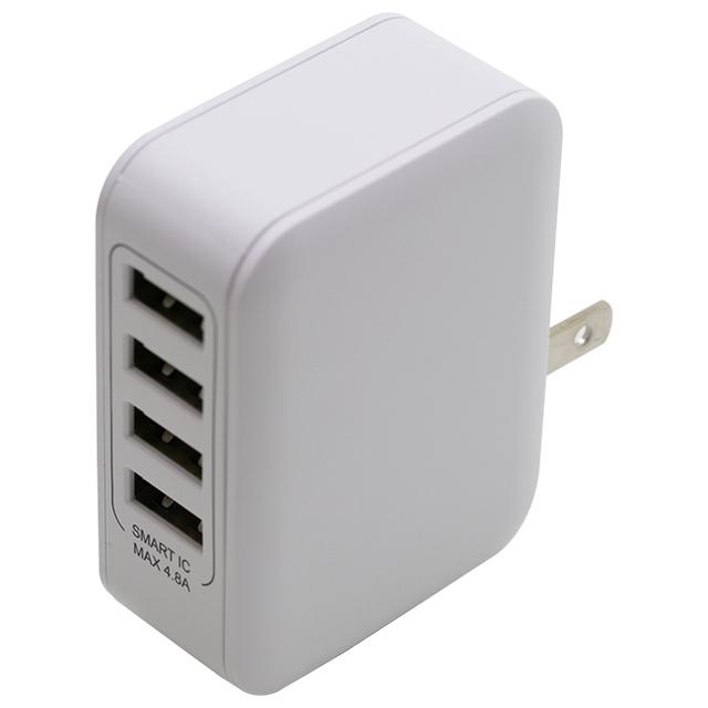 4台同時充電4.8A Smart IC対応AC充電器